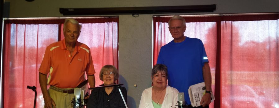 Writers on Air…Emma Feix Albert hosting.  Emma, Linda Wright, & Marie sing Danny Boy to RJ